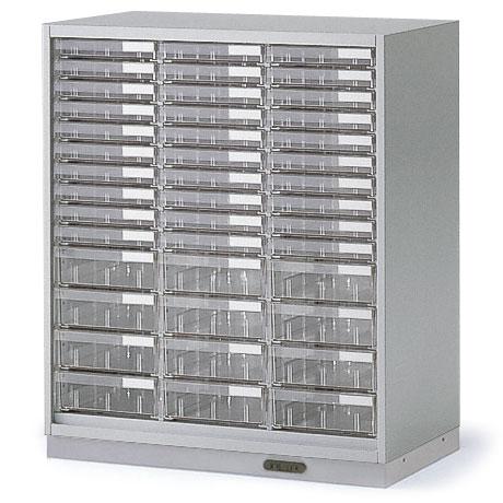 シンラインキャビネット H890/クリスタルトレイ型 A4縦浅型30・A4縦深型12/コンセントベース/下段専用【自社便/開梱・設置付】