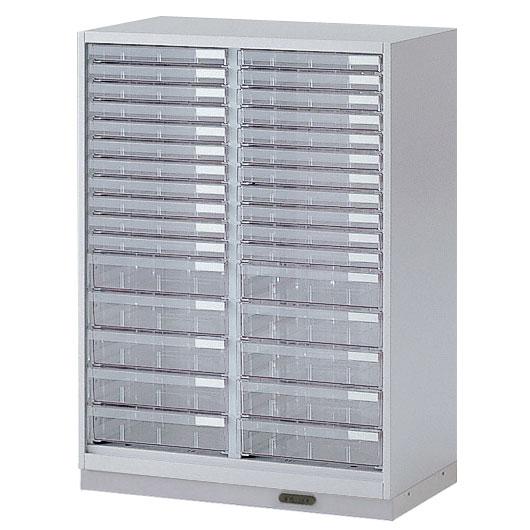 シンラインキャビネット H1040/クリスタルトレイ型 B4浅型22・B4深型10/コンセントベース/下段用【自社便/開梱・設置付】