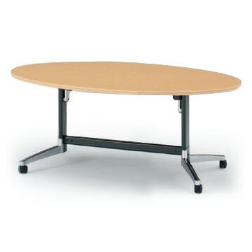 テーブル/DBシリーズ 120°脚/楕円型天板折りたたみタイプ W200×D110【自社便/開梱・設置付】