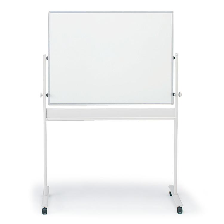 回転型ホワイトボード(両面ホワイト)外寸:W134×H180cm/板面:W120×H90cm【自社便/開梱・設置付】