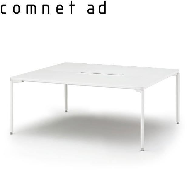 グループテーブル(開閉式配線カバー付)W160×D120【自社便/開梱・設置付】