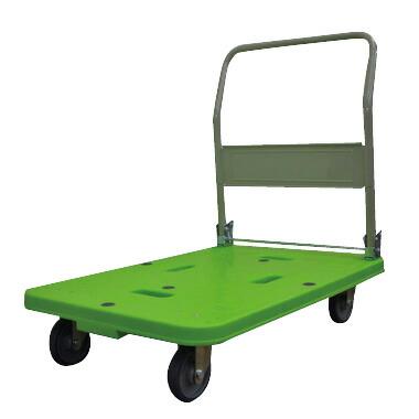 運搬車(台車)樹脂製/折りたたみハンドルタイプ W90×D60【自社便/開梱・設置付】
