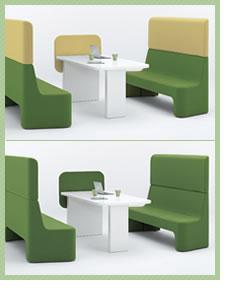 cacomi(カコミ)ローテーブル グリーン