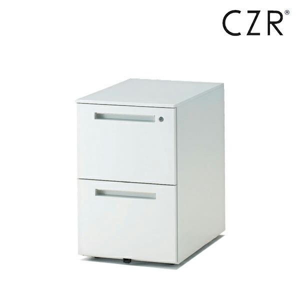 CZRシリーズ/ワゴン/A4・2段 D67.9(ロングレールタイプ)/キャスターロック付【自社便/開梱・設置付】