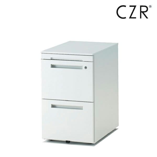 CZRシリーズ/ワゴン/A4・2段 ペントレイ付 D67.9(ロングレールタイプ)/キャスターロック付【自社便/開梱・設置付】