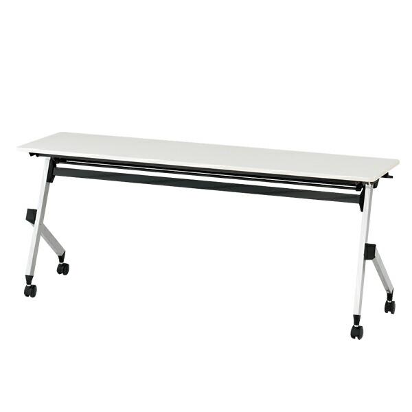 折りたたみテーブル HXシリーズ 幕板なしタイプ(棚付)/W180×D60cm 【自社便/開梱・設置付】