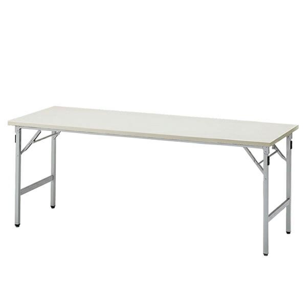 折りたたみテーブルTGシリーズ 棚なしタイプ/W180×D60cm 【自社便/開梱・設置付】