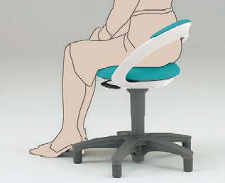 特徴 腰を支える背付