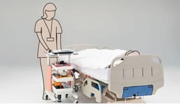 メディワークカート/天板固定・トレイ3段タイプ 特徴