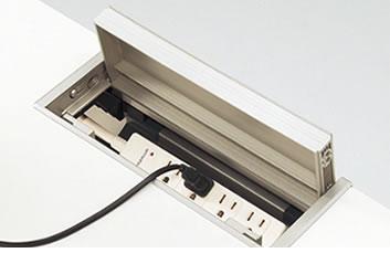 メディワークデスク/片アールストレートタイプ(門型脚タイプ) W160cm  特徴
