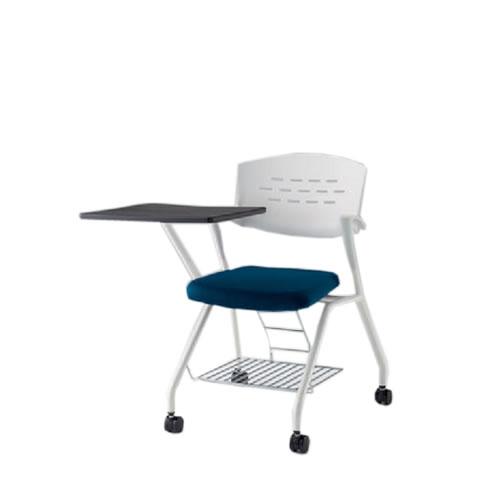 会議椅子 ミーティングチェアー カスタスSCチェア ウレタンキャスター 棚付 メモ台付