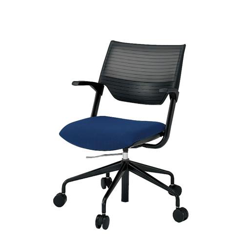 会議椅子 ミーティングチェアー レクシブチェア 肘付 エラストマーバック ガス上下調節 イトーキ