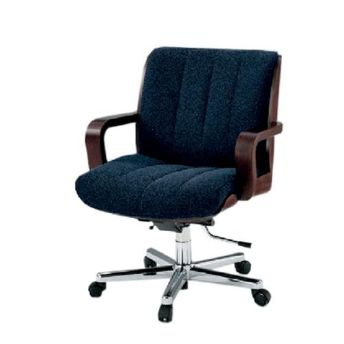 イトーキ R-1タイプ エグゼクティブチェア 社長椅子 役員椅子 ミドルイバック 肘付 突板張り