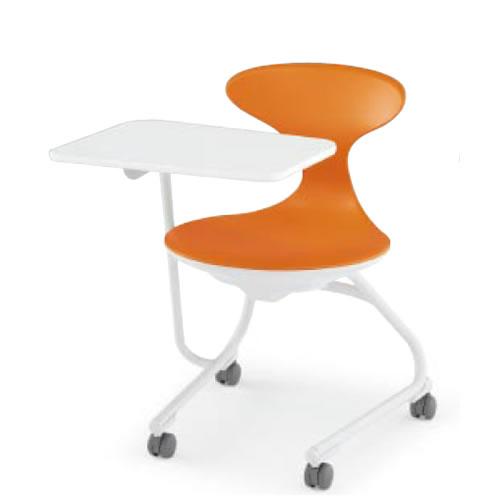 会議椅子 ミーティングチェアー コクヨ キャンパスアップ 肘なし 前傾なし カンチレバー脚 キャスター脚 荷物トレーなし メモ台付き