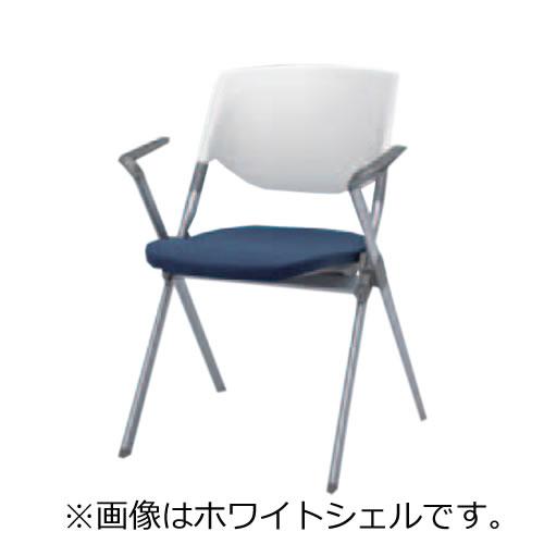 ミーティングチェア 椅子 会議チェア リータII 肘付 4本脚