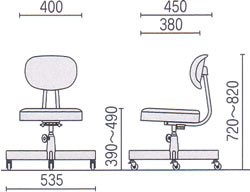 事務椅子オフィス チェアー 寸法