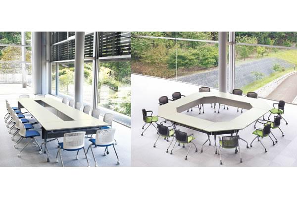 スタックテーブル 平行スタックテーブル アイコ