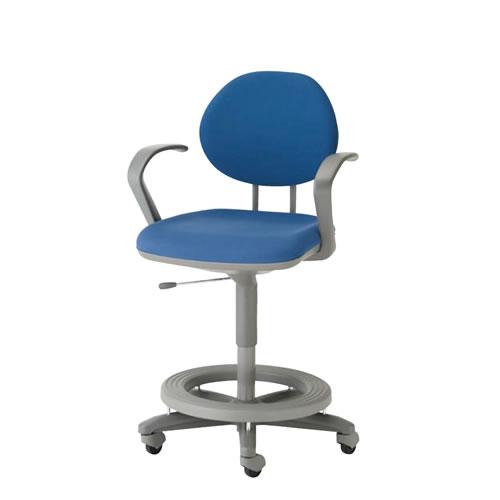 ステップ付 事務用椅子 キャスター付 ロッキング ガス上下調節 事務用チェア TEL型 肘付