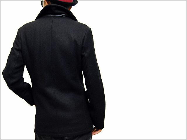 a60c20b9573 2013 SCHOTT N.Y.C. NYC WOOL BLEND FITTED PEACOAT JACKET BLACK ショット ウール  ピーコート ジャケット ブラック 黒