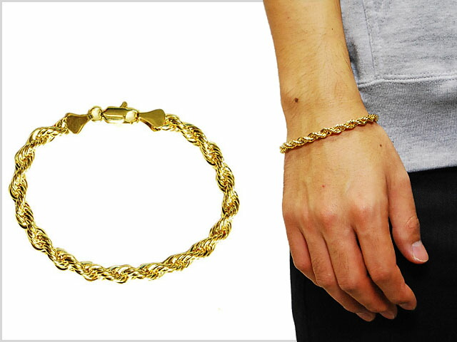 mens gold rope bracelet solt and pepper rakuten global market no brand rope 7624