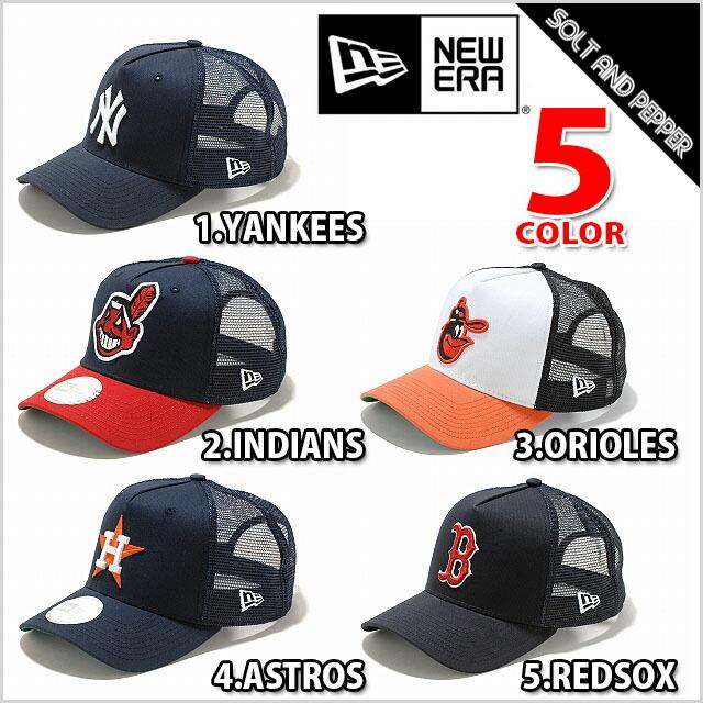 NEWERA ニューエラ CAP D−フレームトラッカー MLB ヤンキース インディアンズ オリオールズ アストロズ レッドソックス BLACK 48b0a7f1bb1