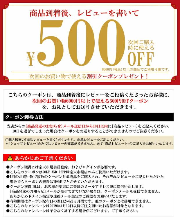500円OFF レビュークーポン