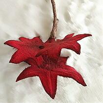 ちりめん染花 コサージュ≪木の葉 かえで≫