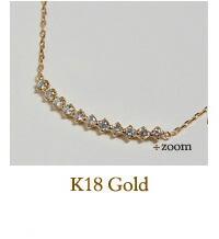 K18天然ダイヤモンドネックレス
