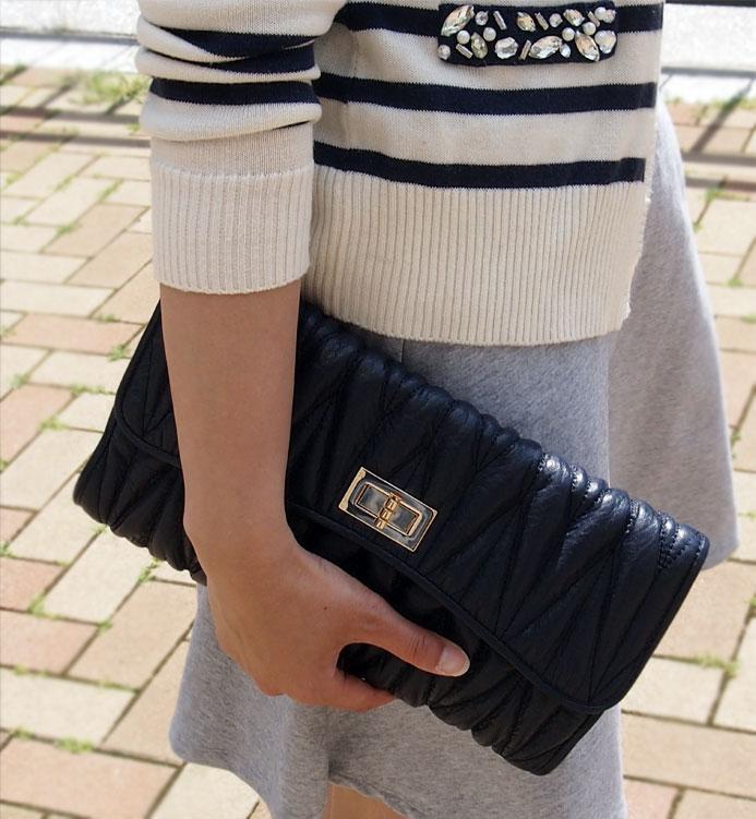 チェーンバッグ 本革 キルティング 斜めがけチェーンバッグ【ミウ】チェーンバッグ好きにおすすめ♪新色ネイビー登場