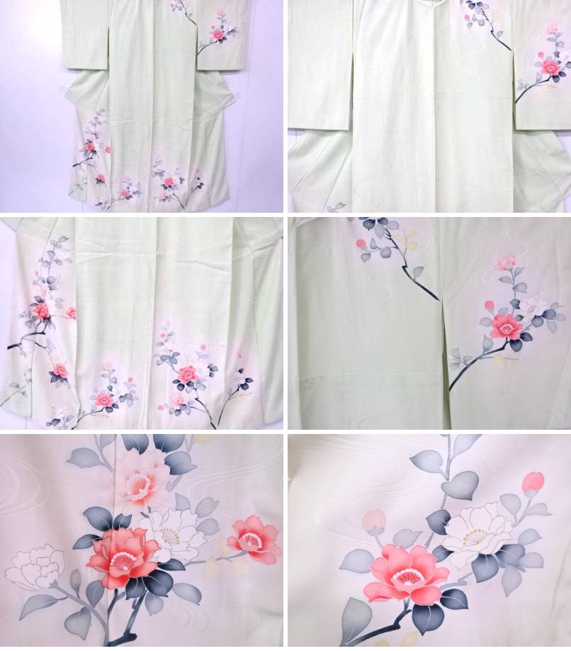 Alicia Mist Floral  Printed  Cotton  Curtain//Craft Fabric