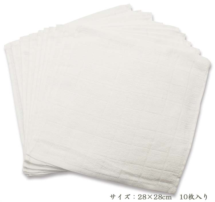 0d29b65eb26d9e 楽天市場】おしぼり 格子柄タオル 業務用 ホワイト(10枚入):爽快ドラッグ