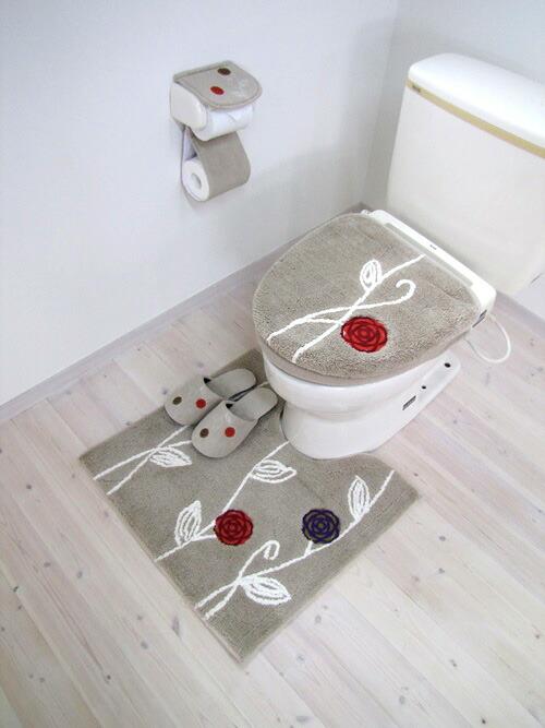 楽天市場エトフ 洗えるトイレマット ロングサイズ ベージュ1枚入