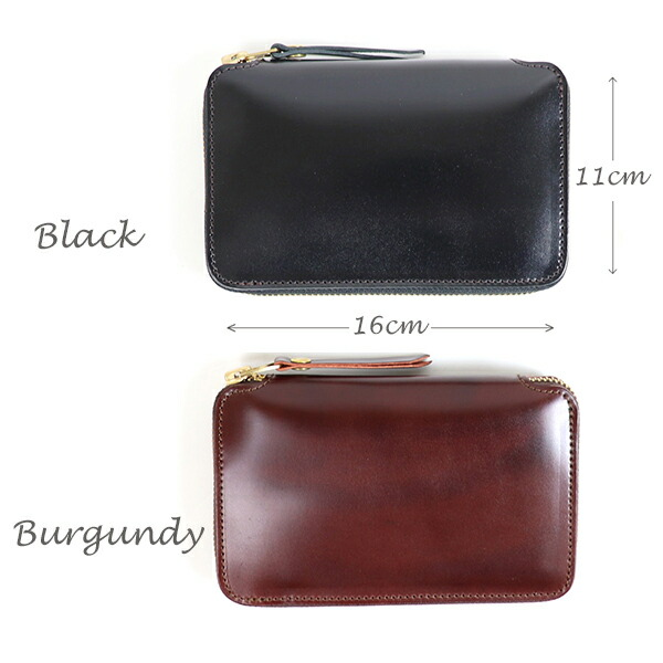 The Superior Labor Cordovan Zip Middle Wallet 2 Colors Made In Japan Long Wallet