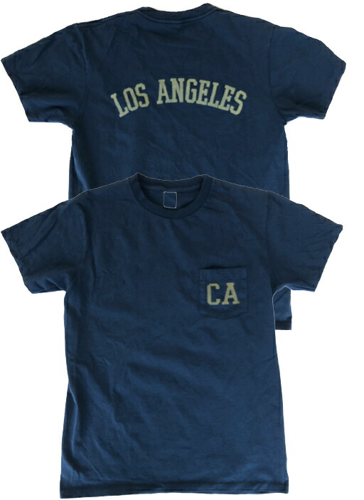 LOS ANGELES ポケット付 ロゴTシャツ