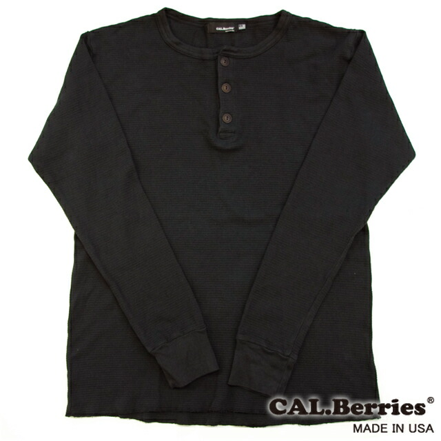 [CAL.Berries]GET AWAY THERMAL HENLEY