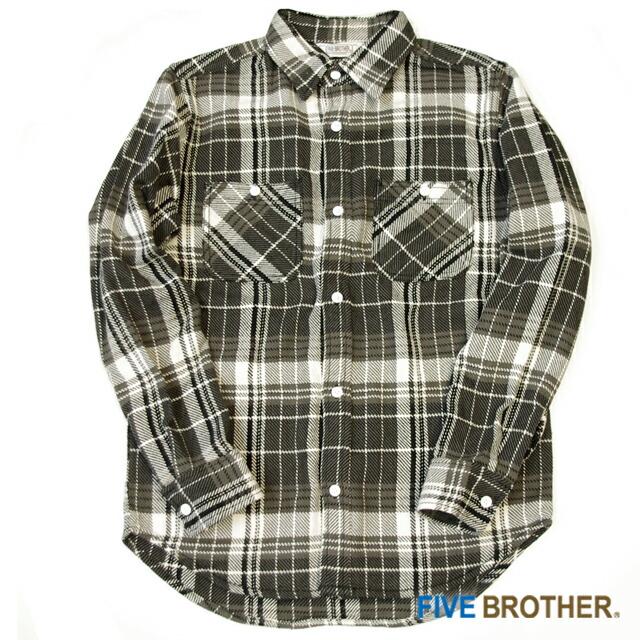 [FIVE BROTHER]ヘビーネルワークシャツ
