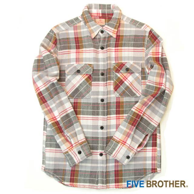 [FIVE BROTHER]USネルワークシャツ