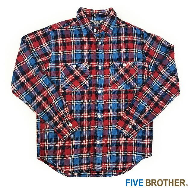 [FIVE BROTHER] ヘビーネルワークシャツ