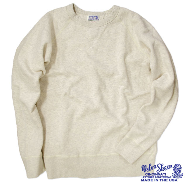 "[Velva Sheen]10oz. ""WV"" Raglan Sweat"