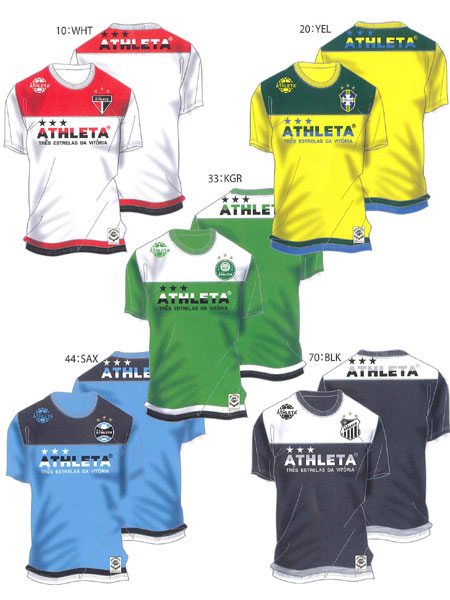 【ATHLETA】Tシャツ【アスレタ】ブラジル切替 Tシャツ