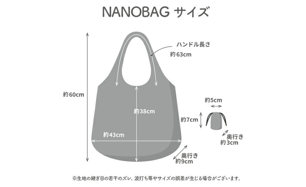 NANOBAG ナノバッグ エコバッグ サイズ