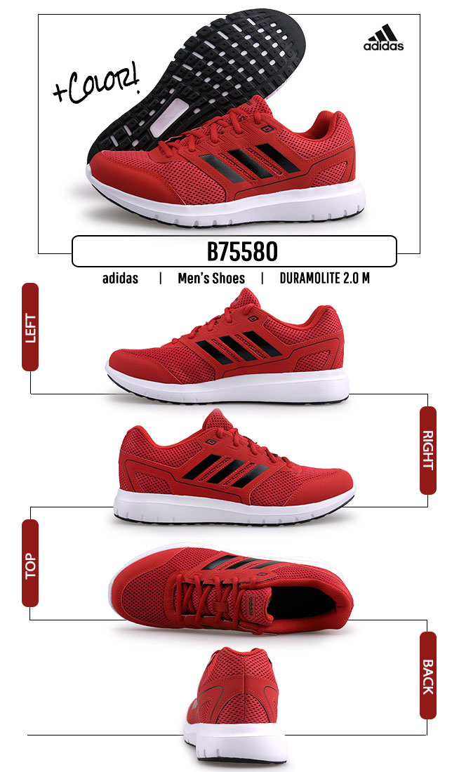 Details about Shoes Adidas Duramo Lite 2.0 Red Mens B75580 Fitness Sports Running show original title