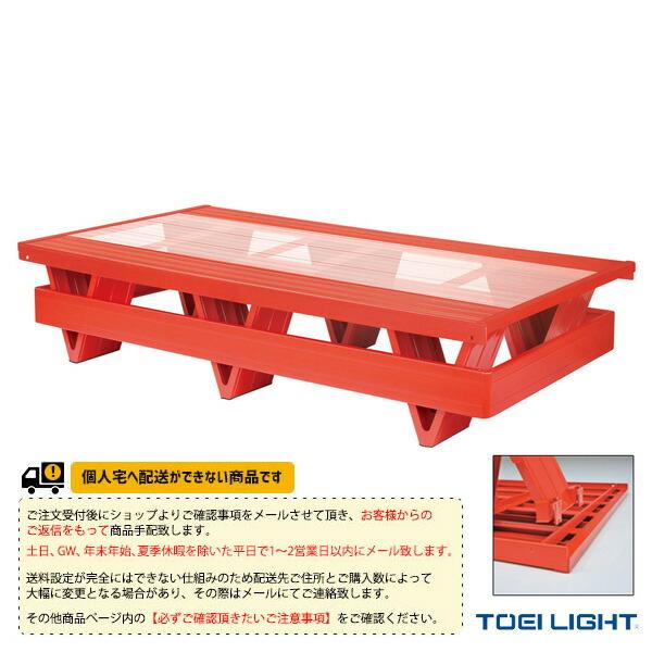 [送料別途]プールフロアV2側板付/透明板/V脚型タイプ(B-2388)