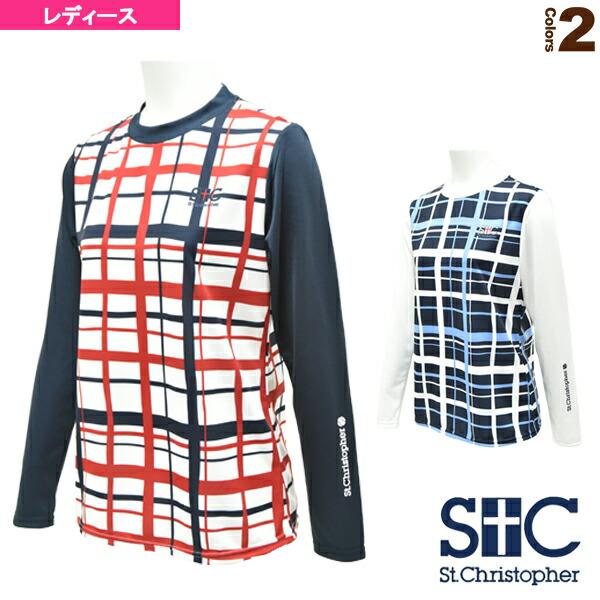 クロスチェックロングTシャツ/レディース(STC-AGW2037)