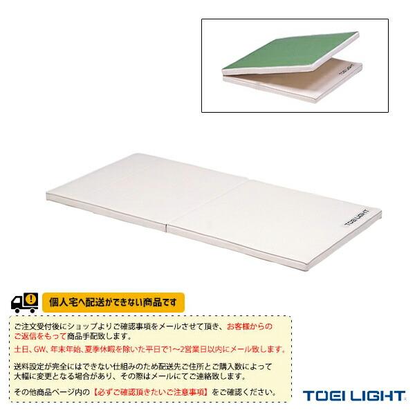 [送料別途]ソフト軽量マット5cm厚(9号帆布)・二つ折り・すべり止め付/90×180×5.5cm(T-1797)