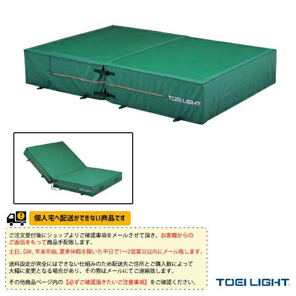 [送料お見積り]防水ポリエステル帆布上部メッシュ・二つ折りエバーマット屋内外兼用/200×400×40cm(G-1559)