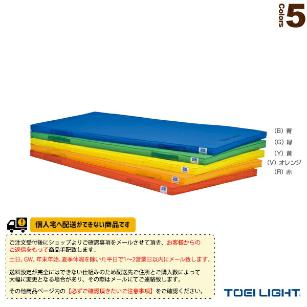 [送料別途]軽量エコカラーマット 5cm厚】90×180×5cm(T-1938)