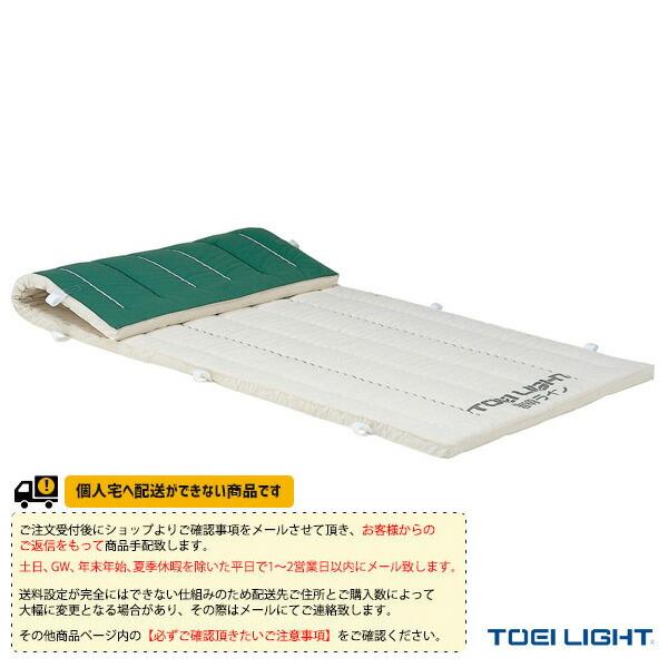 [送料別途]5cm厚ノンスリップ指導ライン入り合成スポンジマット 9号帆布/120×600×5cm(T-1979)