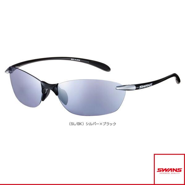 Airless-Leaf(エアレスリーフ)ミラーレンズモデル/シルバー×ブラック/シルバーミラー×アイスブルー(SA-614 SL/BK)