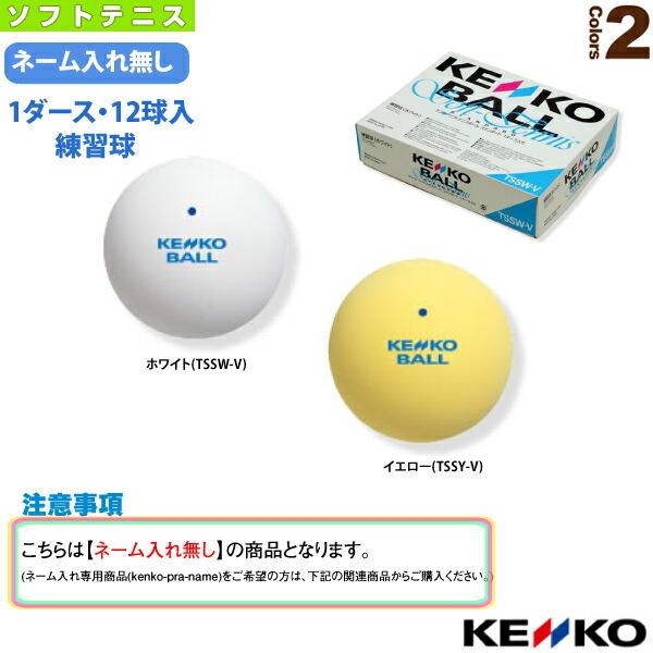 『1箱(1ダース・12球入)』ケンコーソフトテニスボールスタンダード/練習球(TSSW-V/TSSY-V)